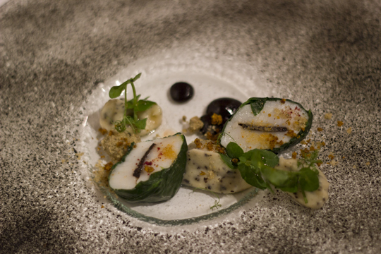sea scallop and black truffle